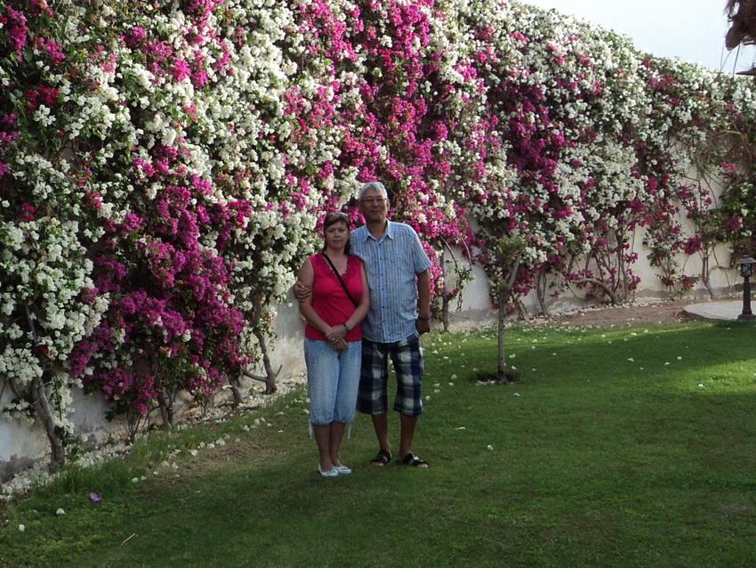 Марьям с мужем в Египте.