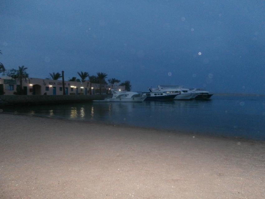 Красное море ночью.