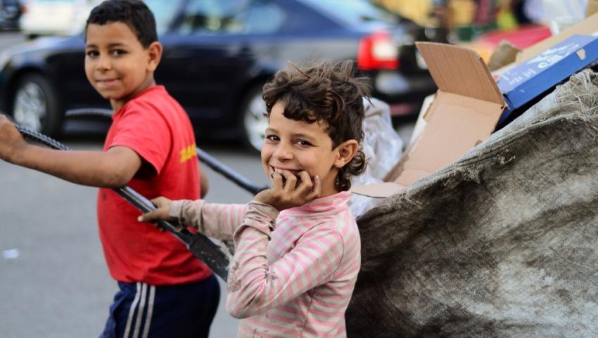 Дети на рынке