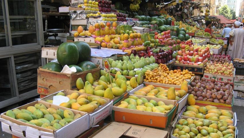 Лотки с фруктами