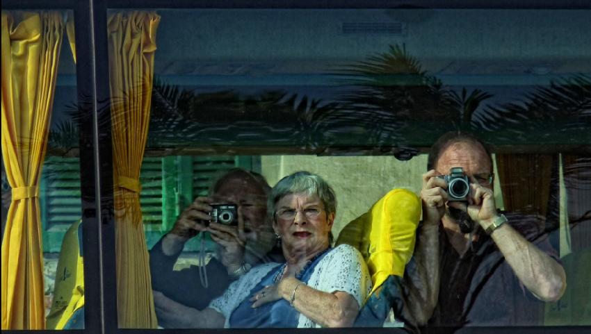 Удивленные туристы
