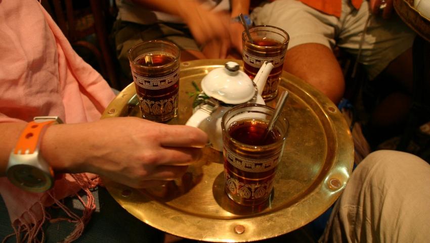 Чаепитие в кафе