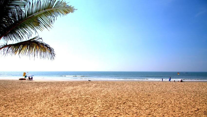 Пляж в Индии.