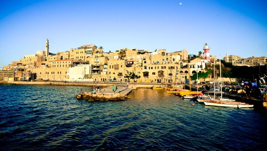 В израильском порту.