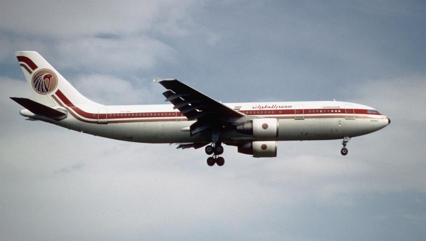 Самолёт в Египет.