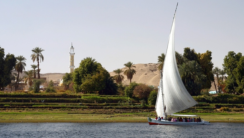 Парусник в Египте.