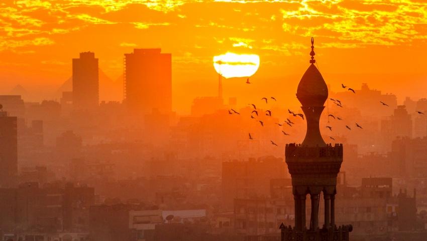 Закат в Египте.