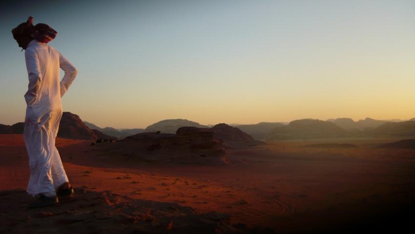 Экскурсовод в пустыне.