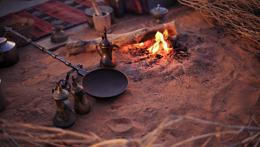 Приготовление кофе на костре.