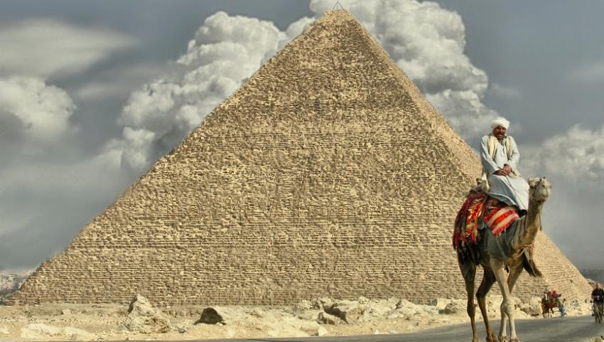 Пирамиды Гизы.