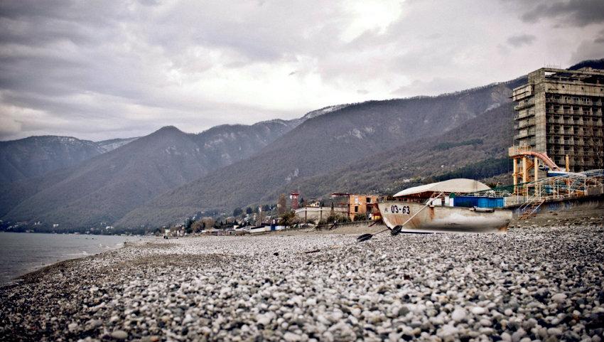 Пляж Гагры.