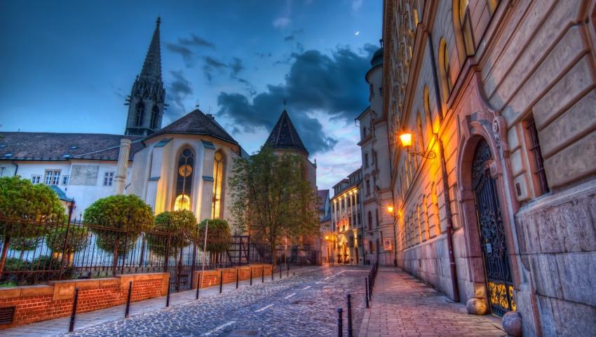 Вечерняя Братислава.