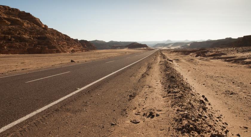 Трасса до горы.