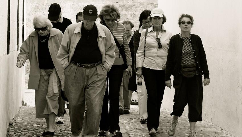 Группа туристов.