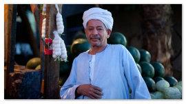 Торговец в Египте.