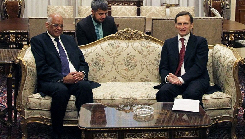 Встреча с президентов Египта.
